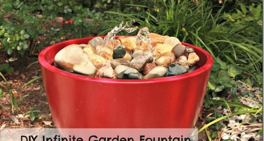Diy Infinite Garden Fountain Gardening Ideas Pinterest