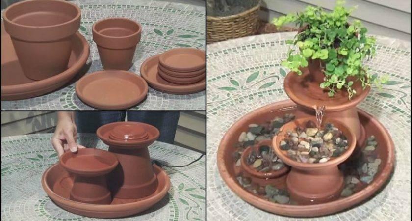 Diy Make Water Garden Fountain