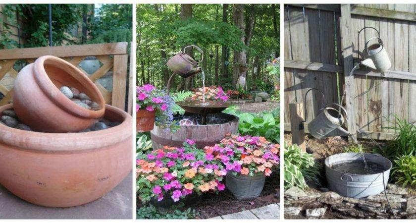 Diy Outdoor Fountain Ideas Make Your Backyard