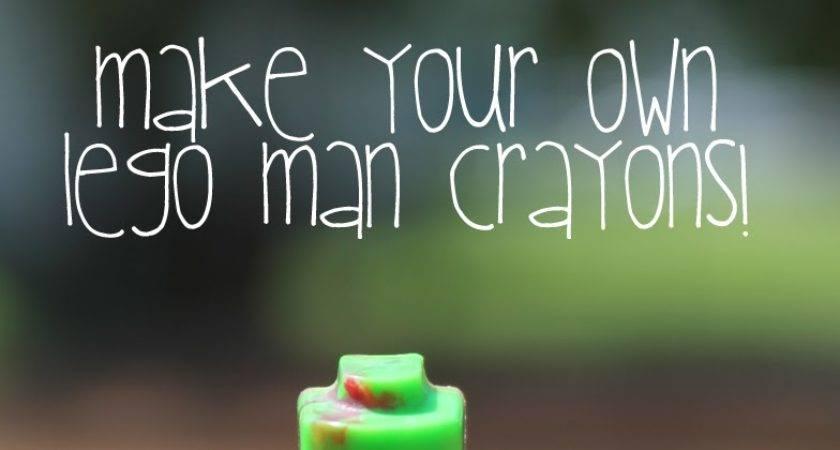 Doodlecraft Lego Man Crayons