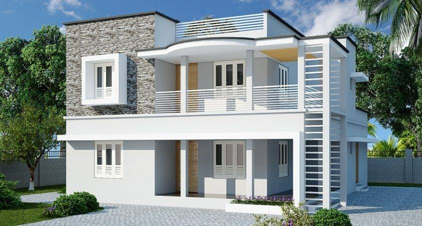 Double Floor Contemporary Home Designs