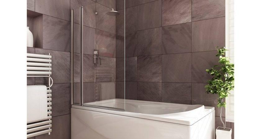 Double Square Shower Bath Screen Fixed Pivot Screens