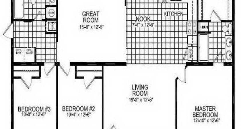 Double Wide Mobile Home Floor Plans Basement