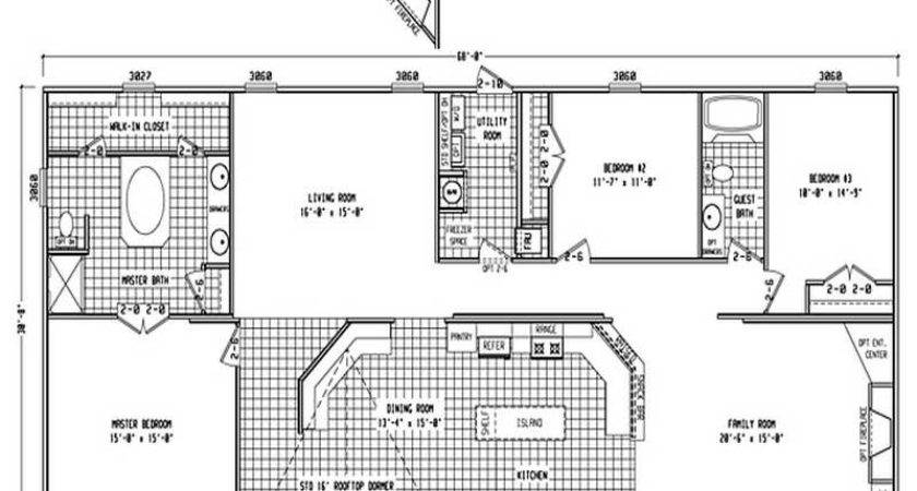 Double Wide Mobile Home Floor Plans Photos