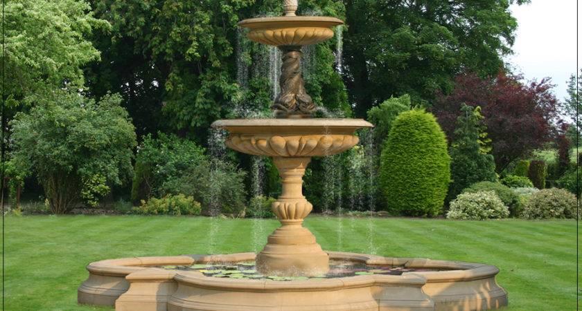 English Garden Ornamental Water Fountain Ideas