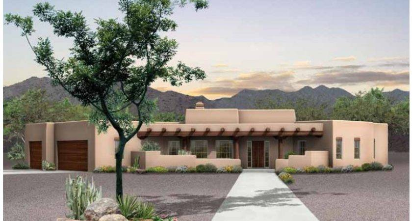 Eplans Adobe House Plan Desert Retreat Square Feet