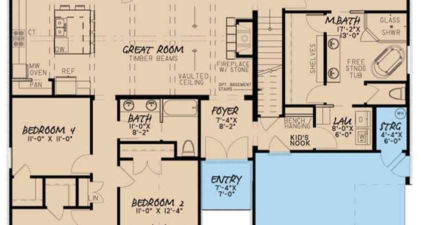 European House Plan Bonus Room