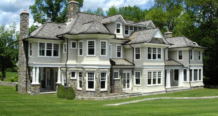 Evergreen Lodge Newly Built Stone Shingle Colonial