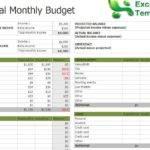 Excel Budget Template New Calendar