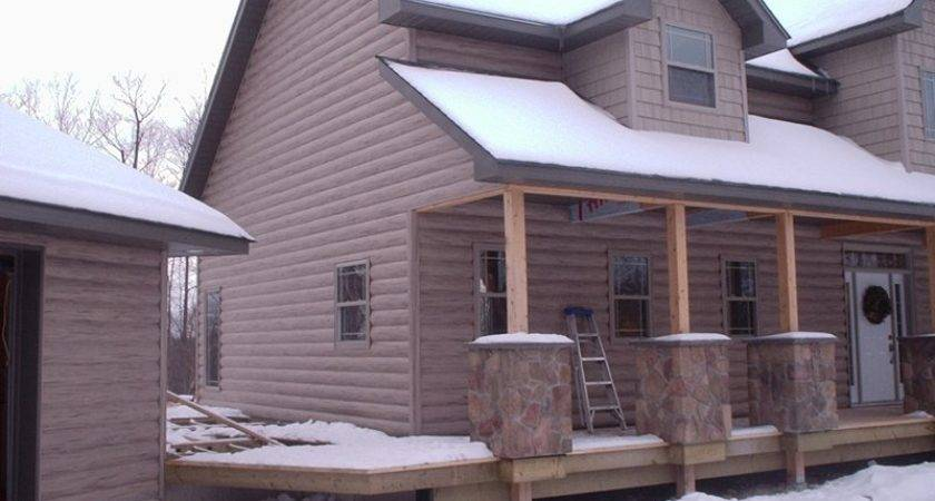 Faux Log Siding Great Way Give Your Home Rustic Appeal