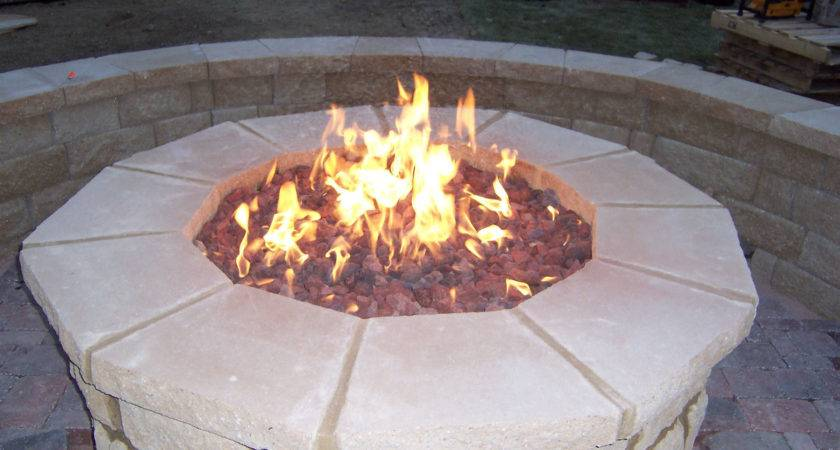 Fire Pit Best Lowes Outdoor Gas Insert Stone