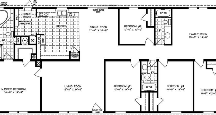 Five Bedroom Mobile Homes Floor Plans