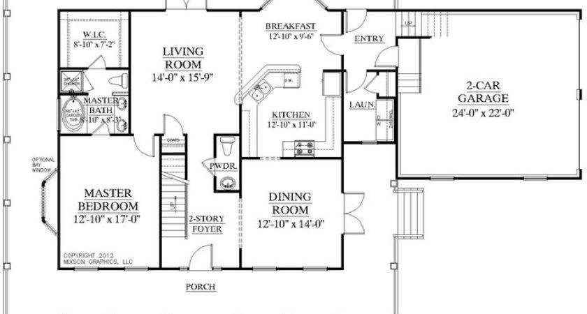 Floor Plan Traditional Story House Bedrooms
