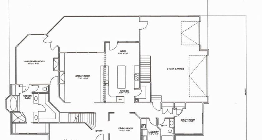 Floor Plans Bedroom Bath Story Concord Custom Home Plan