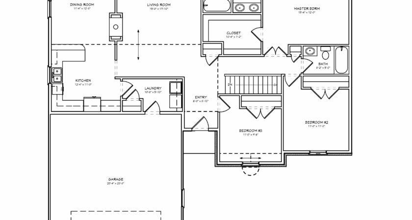 Floor Plans Bedroom House Ranch Plan