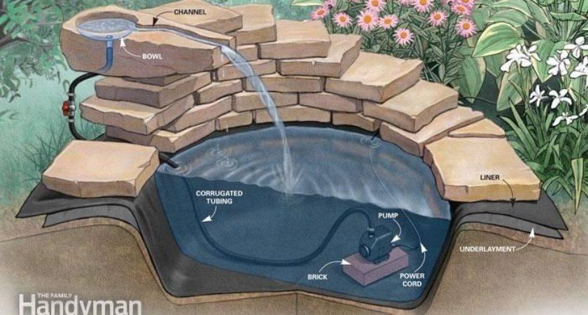 Fountain Build Concrete Step