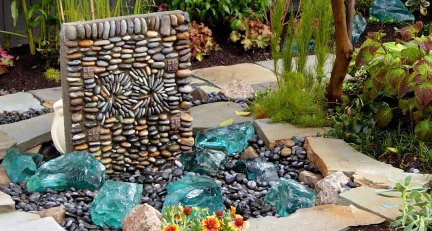 Fountains Waterfalls Outdoor Spaces Patio Ideas Decks