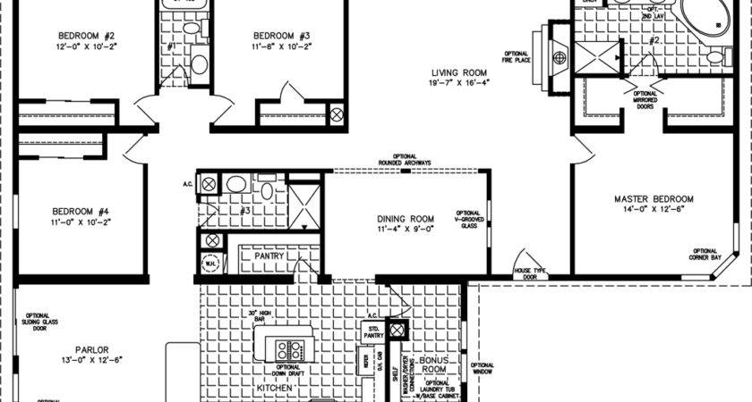 Four Bedroom Mobile Homes Floor Plans