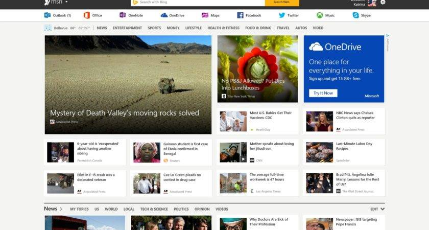 Fully Revamps Its Msn Portal Bing Mobile Apps Rebranded Too