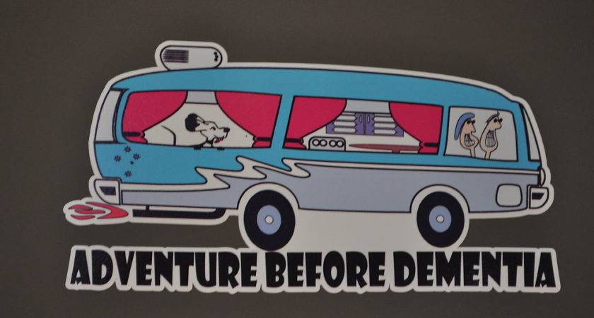 Funny Adventure Before Dementia Mobile Home Sticker Ebay