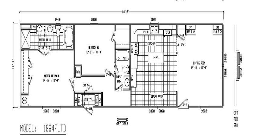 Furniture Single Wide Mobile Home Floor Plans