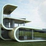Futuristic Building Designed Mimic Ocean Waves Modern Met