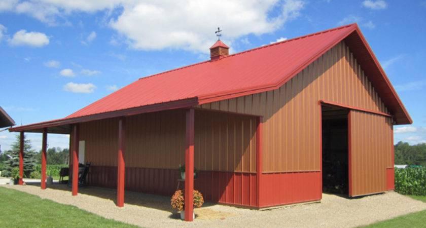 Garage Lester Buildings Storage Workshop