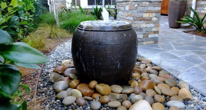 Garden Diy Disappearing Water Fountain Cotcozy