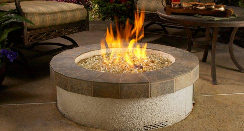Glass Fire Pits Outdoor Lowe Gas