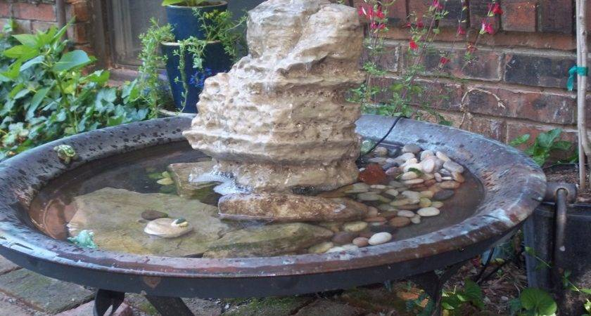 Glenda World Make Water Fountain Using Copper Fire Pit