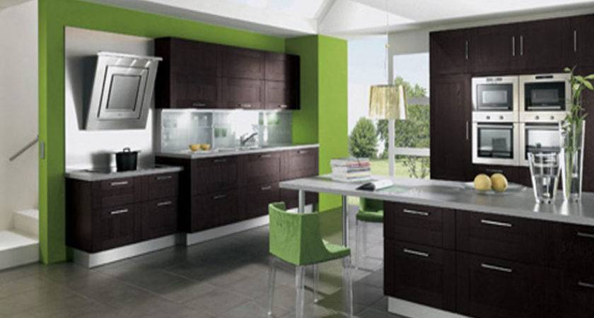 Green Brown Kitchen Ideas