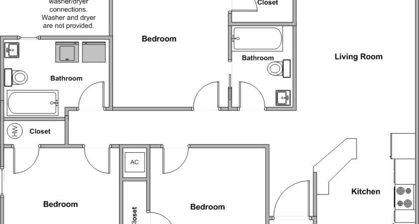 Griffin Park Duplexes Bedroom Floor Plan