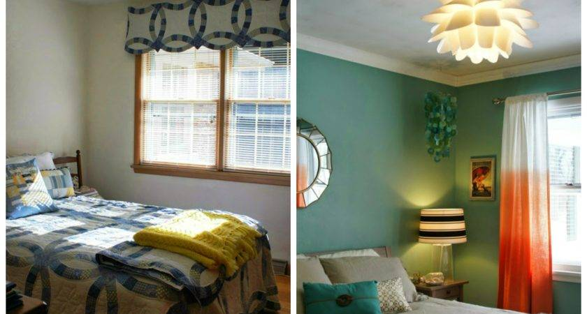 Guest Bedroom Before After Living Yellow