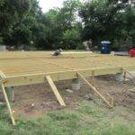 Here Good Looking Pier Beam Foundation Under Construction