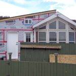 Here Park Model Manufactured Home Getting Addition Built Onto
