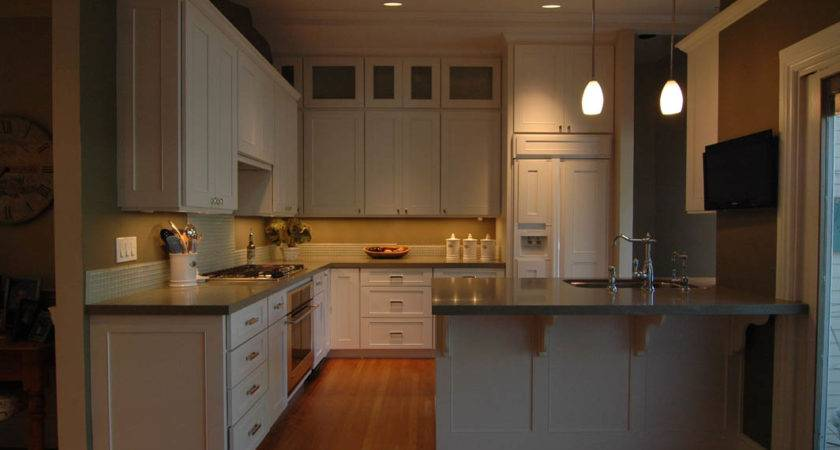 High End Kitchen Painted White Cabinets