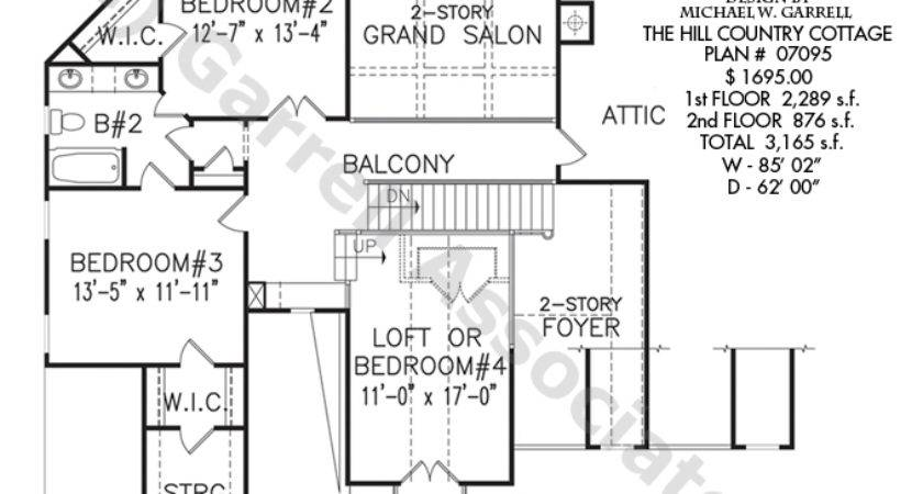 Hill Country Cottage House Plan Floor Mountain Style