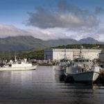 Hms Blyth Comes Alongside Her Home Port Naval Base Clyde After