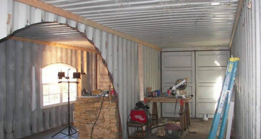 Home Built Two Shipping Containers Owner
