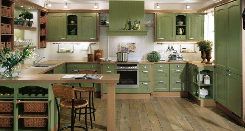 Home Country Kitchen Designs Bauformat Green