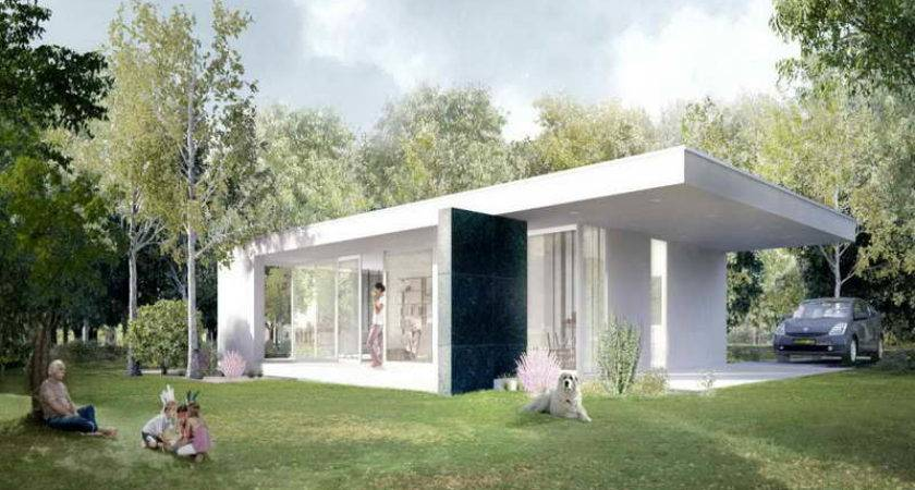 Home Ideas Modern Green Prefab Homes White