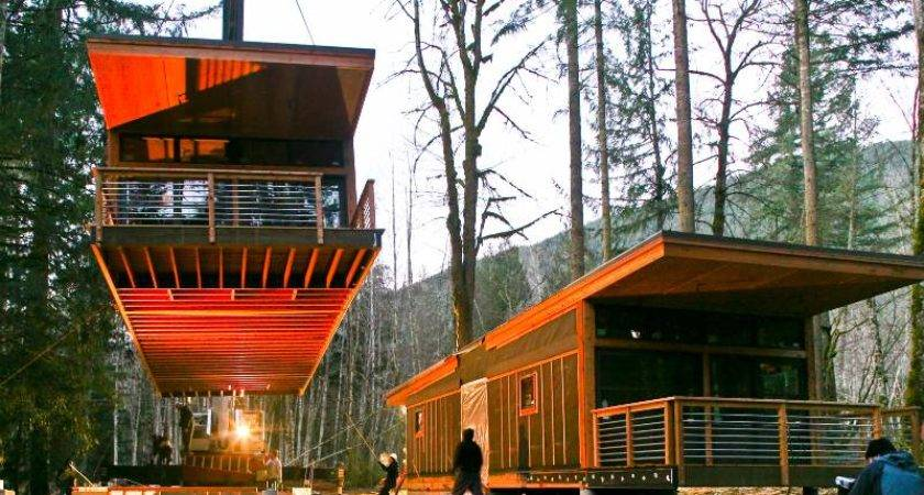 Homes Drops New Prefab House Glacier Washington Method