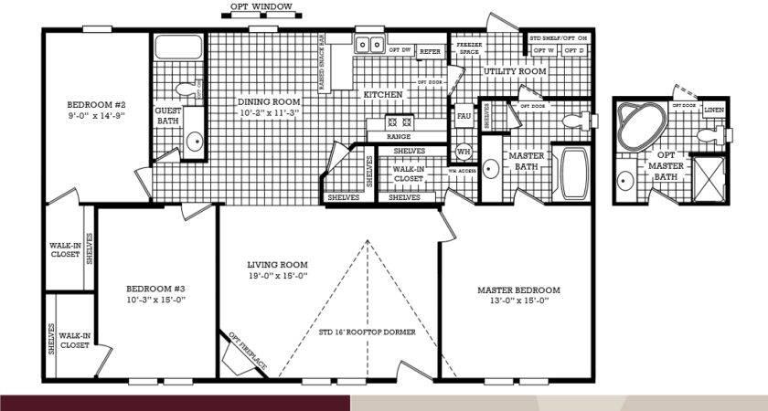 Homes Floor Plan Bedroom Bath Double Wide Manufactured