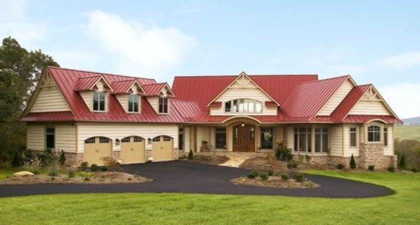 Homes Metal Siding Stone Accenct