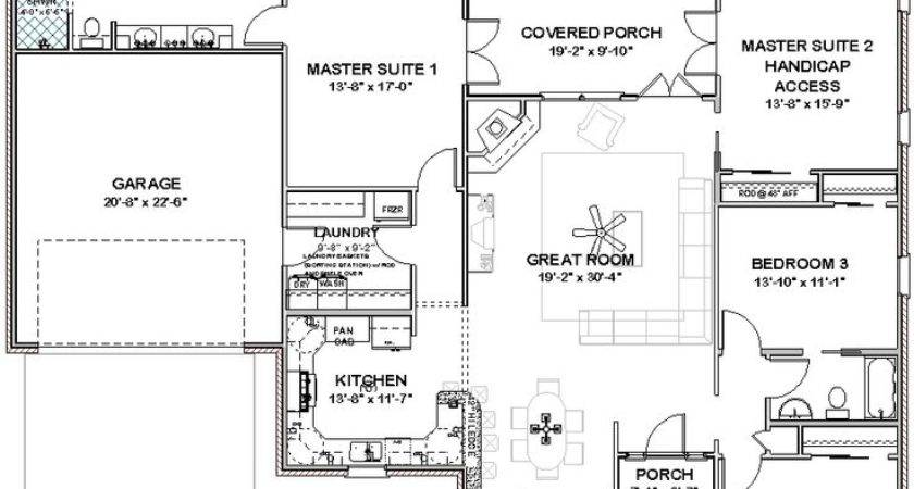 House Plans Three Master Suites Details Complete