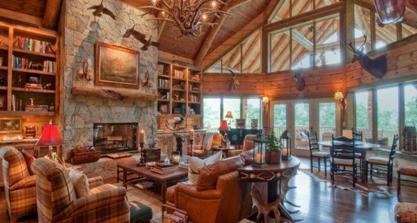 Ideas Design Rustic Cabin Decor Log Home