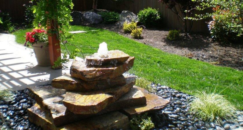 Ideas Unique Stone Garden Water Fountains Backyard