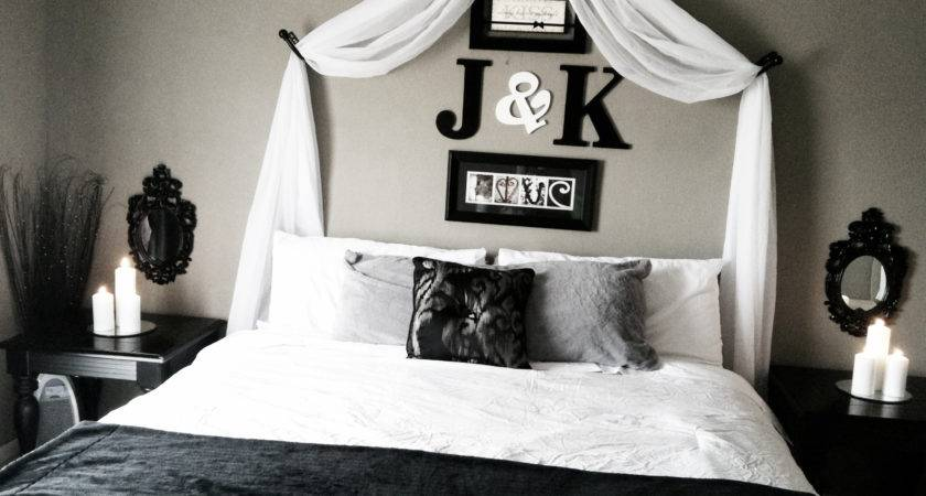 Impressive Over Bed Decor Initials Above