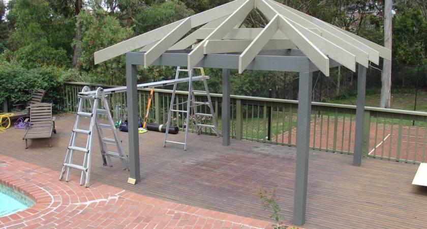 Install Gazebo Roof Garden Outdoor Kits