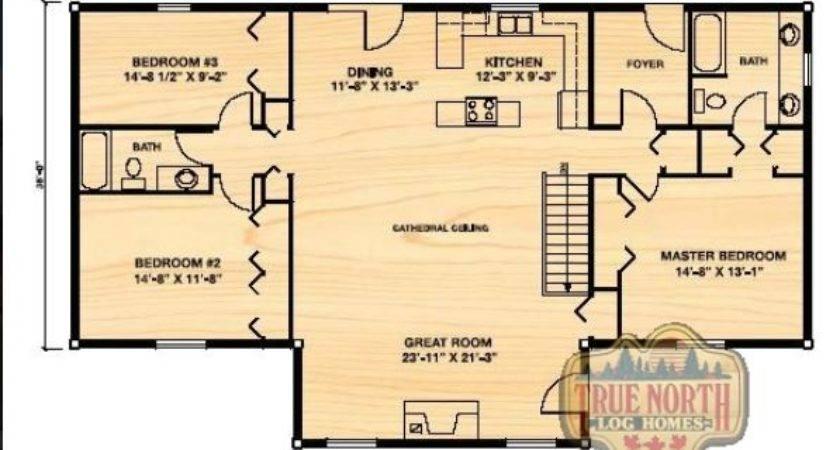 Klondike Log Home Floor Plan True North Homes